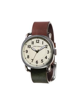 Часы TOKYObay. Цвет: коричневый, темно-зеленый