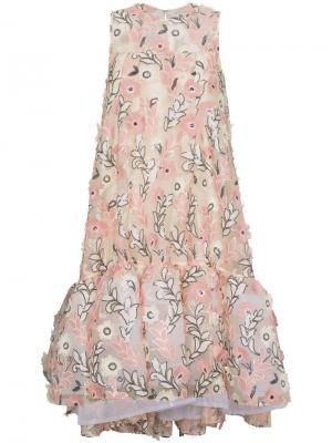 Пышное платье с цветочной вышивкой Huishan Zhang. Цвет: розовый и фиолетовый