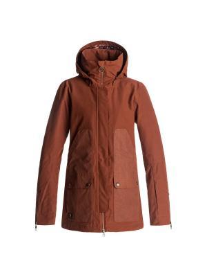 Куртка DC Shoes. Цвет: коричневый, рыжий