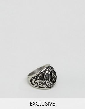 Seven London Серебристое массивное кольцо эксклюзивно для ASOS. Цвет: серебряный