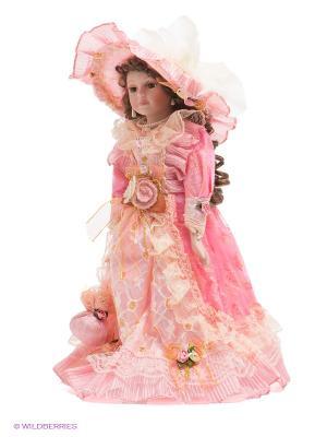 Кукла фарфоровая Каролина Lisa Jane. Цвет: бледно-розовый, розовый, бежевый