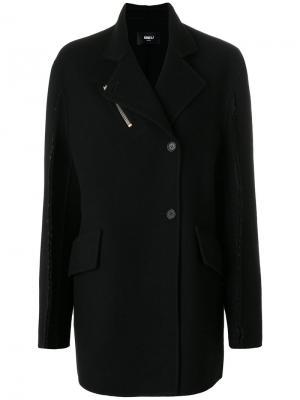 Объемное асимметричное пальто Yang Li. Цвет: чёрный