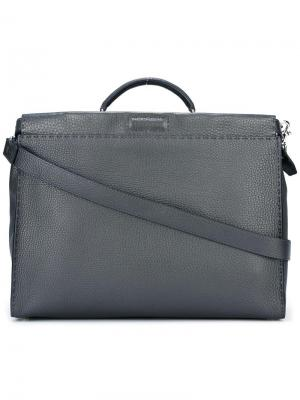 Сумка для ноутбука Selleria Fendi. Цвет: серый