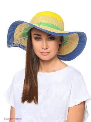 Шляпа Fabretti. Цвет: бежевый, желтый, салатовый