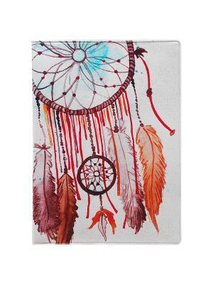 Обложка для паспорта Ловец снов Kawaii Factory. Цвет: серый меланж, бежевый