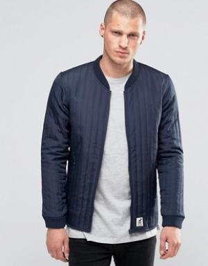 Fat Moose Стеганая куртка‑пилот Lumber. Цвет: темно-синий