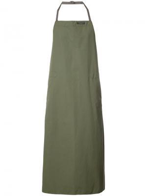 Фартук на завязке Engineered Garments. Цвет: зелёный
