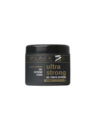 Гель для укладки волос Ультра сильной фиксации fixing 5 500 мл Black. Цвет: белый
