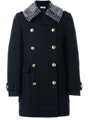 Двубортное пальто Altuzarra. Цвет: чёрный