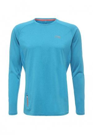 Лонгслив спортивный Li-Ning. Цвет: голубой