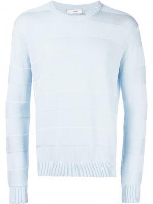 Полосатый свитер Ami Alexandre Mattiussi. Цвет: синий
