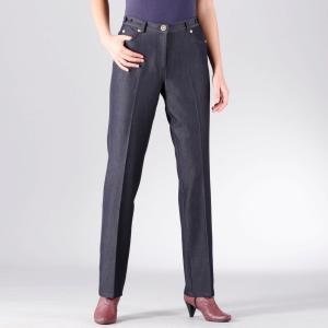 Джинсы стретч синтетические,длина по внутр.шву 78 см ANNE WEYBURN. Цвет: синий,черный джинсовый