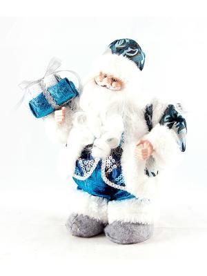 Игрушка новогодняя Санта Клаус Русские подарки. Цвет: голубой
