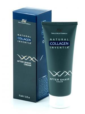 Крем коллагеновый после бритья Collagen After Shave Cream Natural Inventia. Цвет: прозрачный, белый, красный