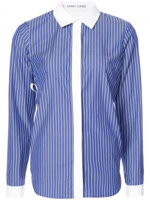 Рубашка в полоску Sandy Liang. Цвет: синий