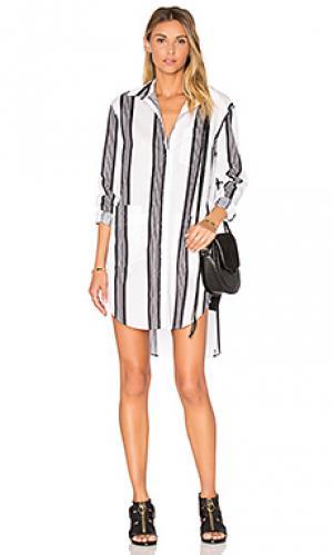 Платье-рубашка Assembly Label. Цвет: белый