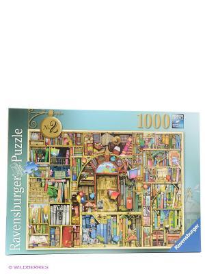 Пазл Книжные полки  1000шт Ravensburger. Цвет: коричневый