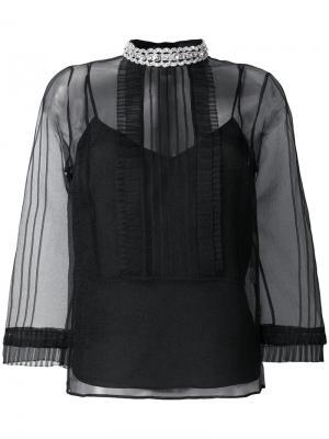 Transparent blouse Marc Jacobs. Цвет: чёрный