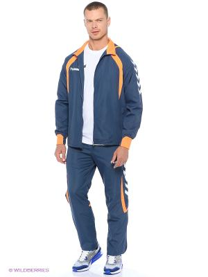 Курткa TEAM PLAYER MICRO JACKET HUMMEL. Цвет: синий