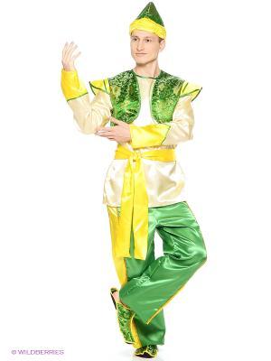 Карнавальный костюм Султан (д/взр) Батик. Цвет: светло-зеленый, кремовый
