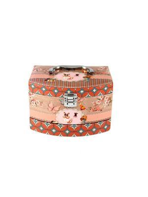 Шкатулка для ювелирных украшений 3-ярусная 21*16*15см Русские подарки. Цвет: оранжевый, розовый, персиковый