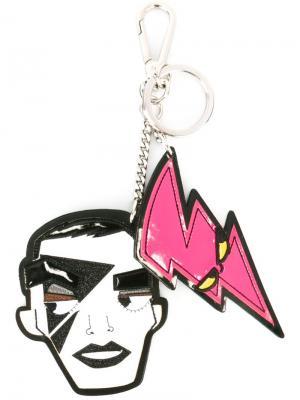 Брелок Punk с двумя подвесками Dsquared2. Цвет: белый