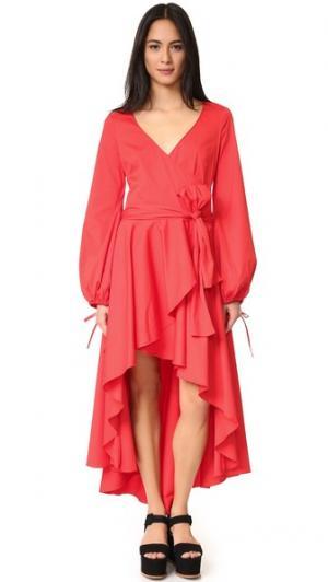Платье Lena Caroline Constas. Цвет: красный