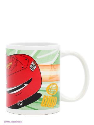 Кружка керамическая в подарочной упаковке Тачки Stor. Цвет: красный, светло-зеленый