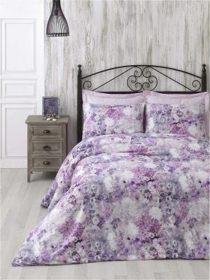 Комплект постельного белья GRACE pembe/pink/розовый сатин, 200ТС, 100% хлопок, цифровая печать, евро ISSIMO Home. Цвет: розовый