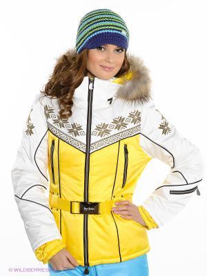 Куртка Sport Vision. Цвет: белый, желтый