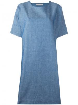 Платье с воротником на спине Société Anonyme. Цвет: синий