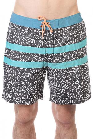 Шорты пляжные  Cayman Boardshort Black Globe. Цвет: серый