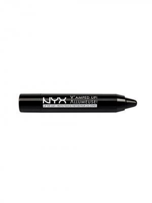 Карандаш для губ верхнего покрытия VAMPED UP! LIP TOP COAT 01 NYX PROFESSIONAL MAKEUP. Цвет: черный