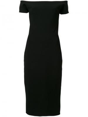 Платье с широким вырезом-лодочка Antonio Berardi. Цвет: чёрный