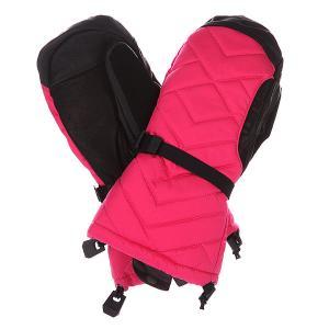 Варежки сноубордические женские  Wb Insulator Mtt Marilyn Burton. Цвет: черный,розовый