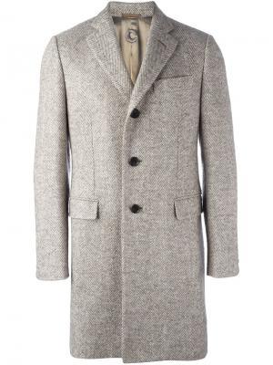 Однобортное пальто Caruso. Цвет: телесный