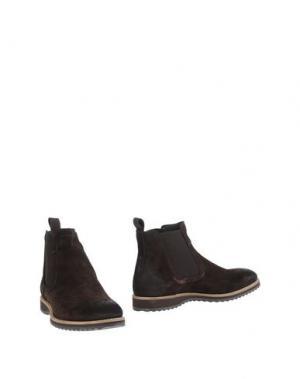 Полусапоги и высокие ботинки MALDINI. Цвет: темно-коричневый
