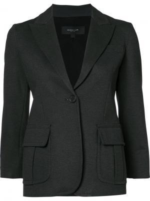 Пиджак с застежкой на одну пуговицу Derek Lam. Цвет: серый