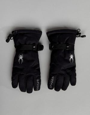 Spyder Горнолыжные перчатки. Цвет: черный