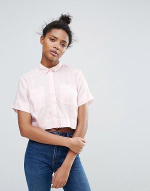 Waven Укороченная рубашка Daisi. Цвет: розовый