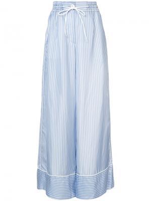 Широкие полосатые брюки Sacai. Цвет: синий