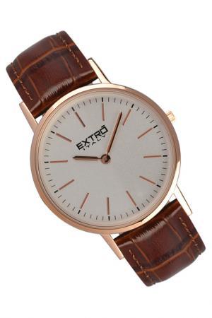 Наручные часы Extro. Цвет: коричневый