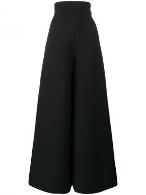Широкие брюки с завышенной талией Vika Gazinskaya. Цвет: чёрный