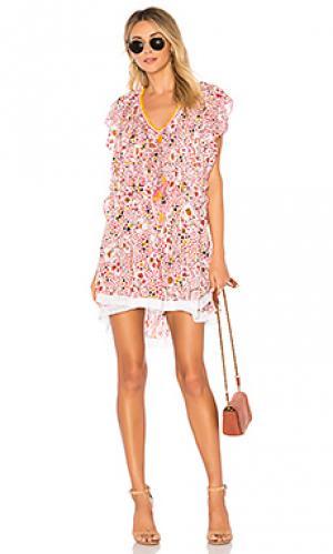 Платье Poupette St Barth. Цвет: розовый