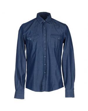 Джинсовая рубашка L(!)W BRAND. Цвет: синий