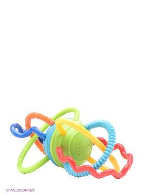 Игрушка Разноцветная гантелька Oball. Цвет: зеленый