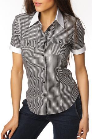 Рубашка GAZOIL. Цвет: black