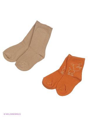 Носки Malerba. Цвет: темно-бежевый, оранжевый