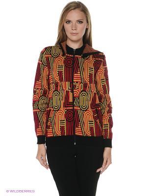 Жакет Milana Style. Цвет: оранжевый, красный, черный