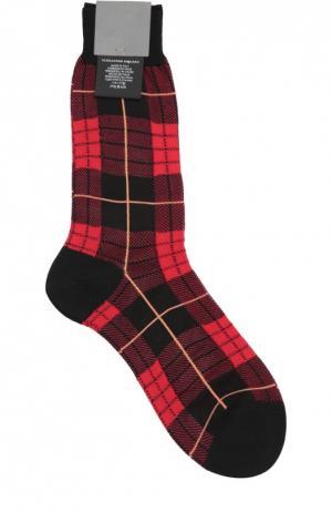 Хлопковые носки в клетку Alexander McQueen. Цвет: красный